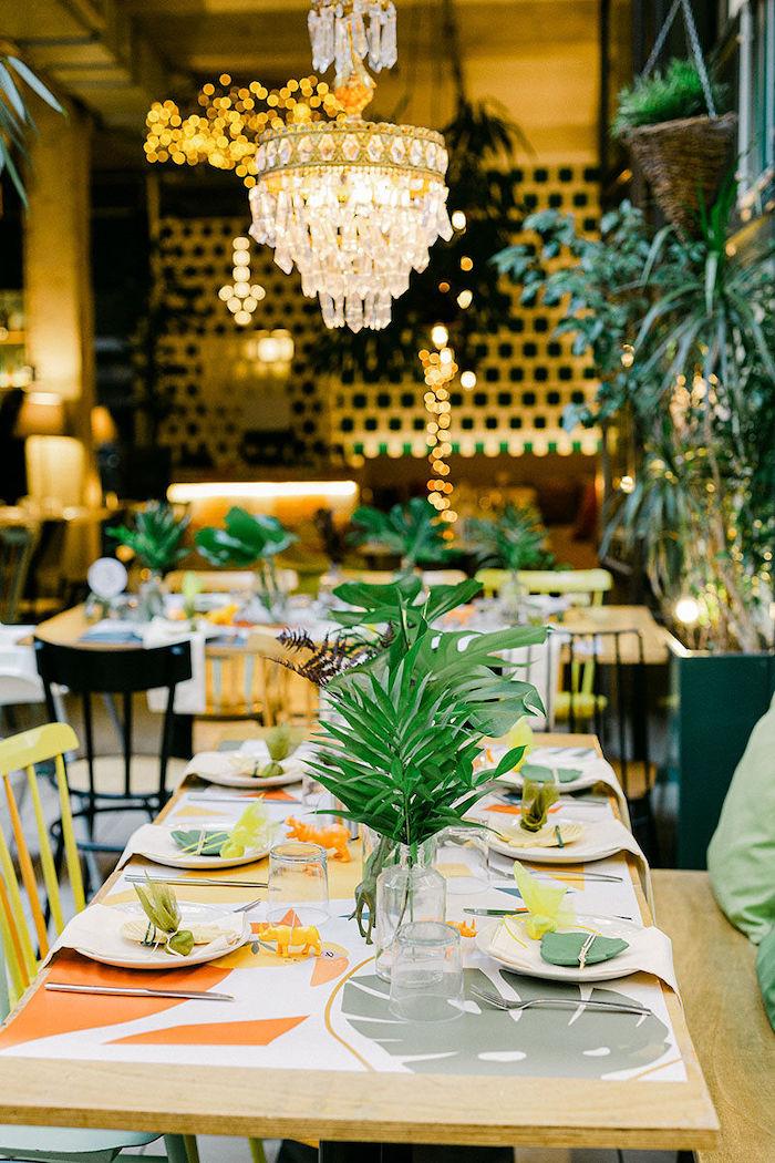 Safari Themed Guest Table from a Wild Safari Baptism Party on Kara's Party Ideas   KarasPartyIdeas.com (13)