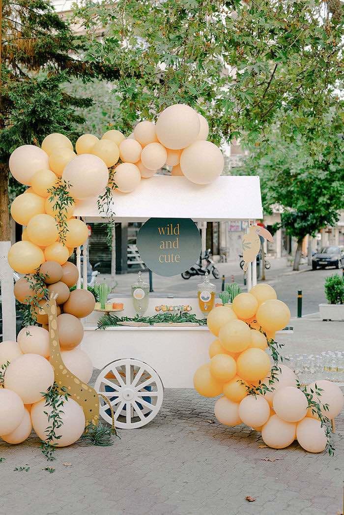 Safari Themed Dessert Cart from a Wild Safari Baptism Party on Kara's Party Ideas   KarasPartyIdeas.com (35)
