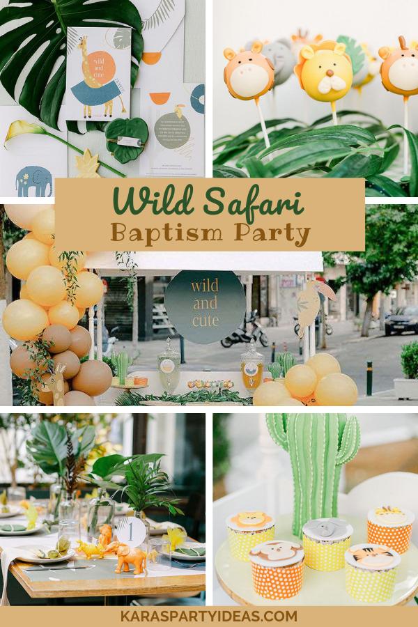 Wild Safari Baptism Party via Kara's Party Ideas - KarasPartyIdeas.com