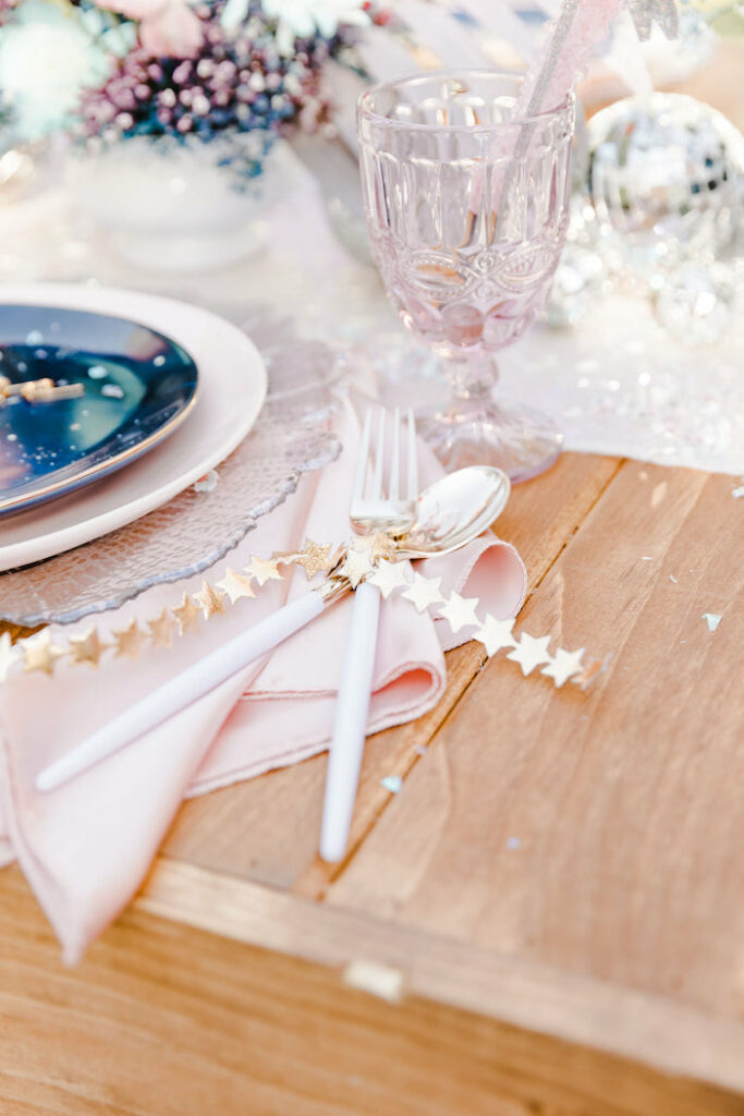 """Star-wrapped Flatware from a """"Stay Wild, Moon Child"""" Dreamy Birthday Party on Kara's Party Ideas 