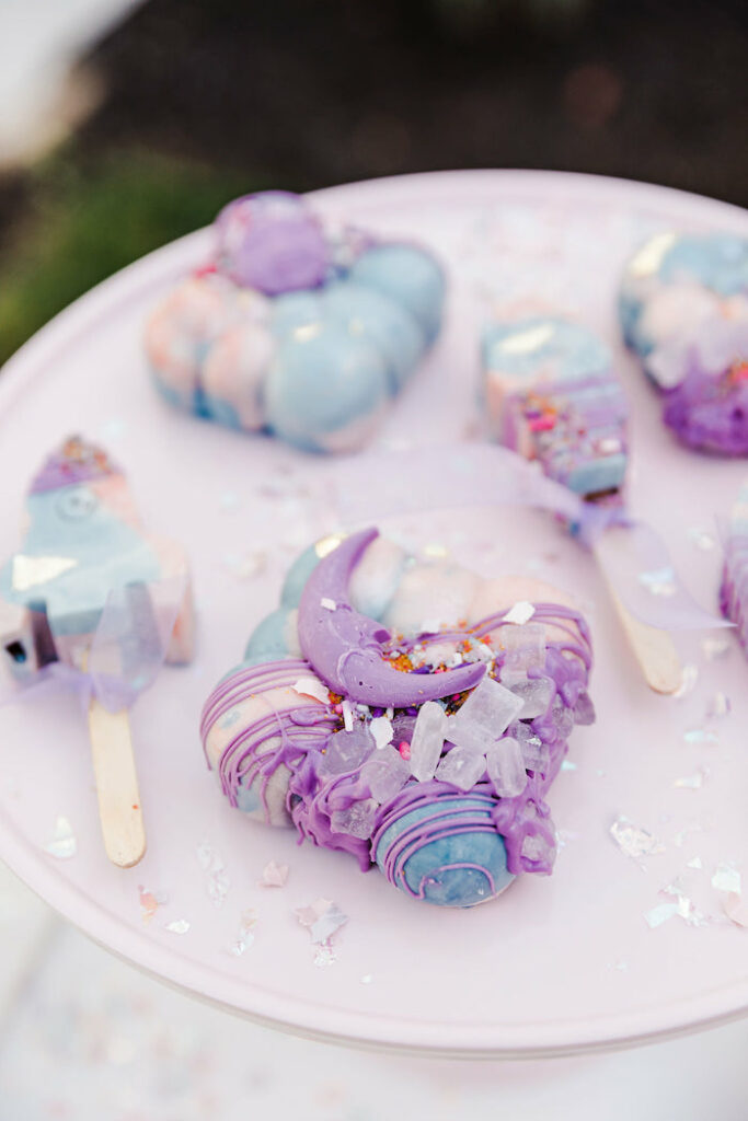 """Galactic Moon Desserts from a """"Stay Wild, Moon Child"""" Dreamy Birthday Party on Kara's Party Ideas 