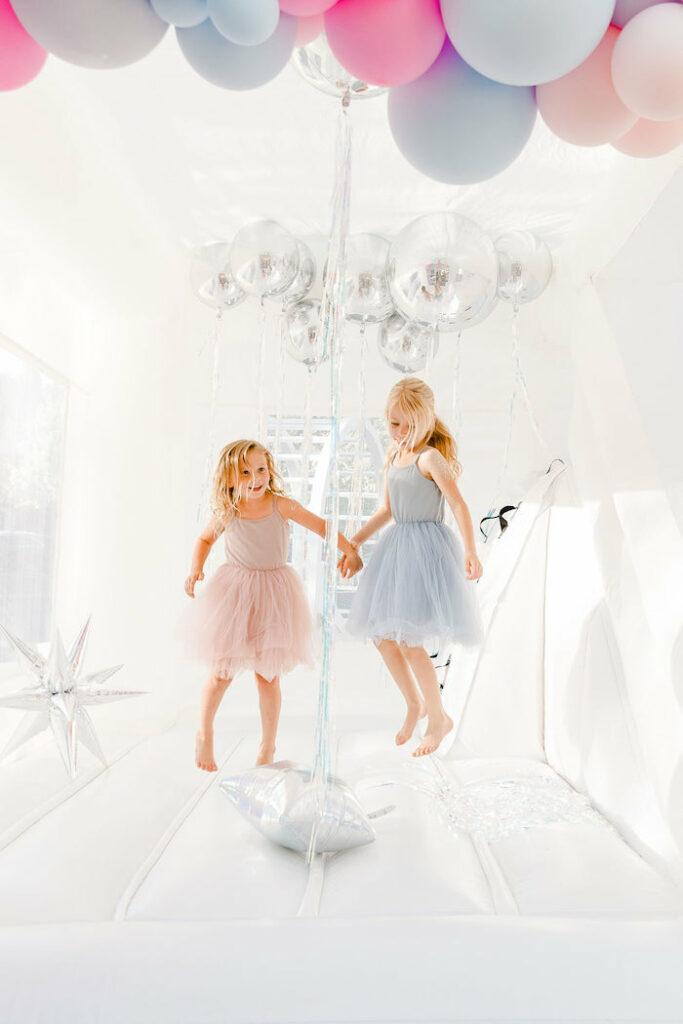 "Galactic Bounce House from a ""Stay Wild, Moon Child"" Dreamy Birthday Party on Kara's Party Ideas | KarasPartyIdeas.com"
