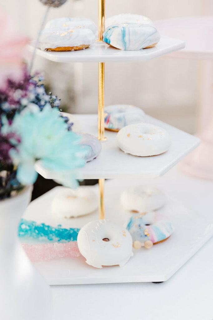 "Glam Mini Doughnuts from a ""Stay Wild, Moon Child"" Dreamy Birthday Party on Kara's Party Ideas | KarasPartyIdeas.com"