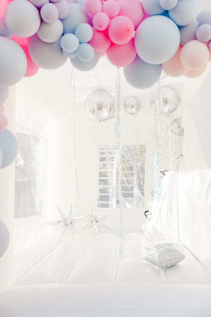 "Celestial Bounce House from a ""Stay Wild, Moon Child"" Dreamy Birthday Party on Kara's Party Ideas | KarasPartyIdeas.com"