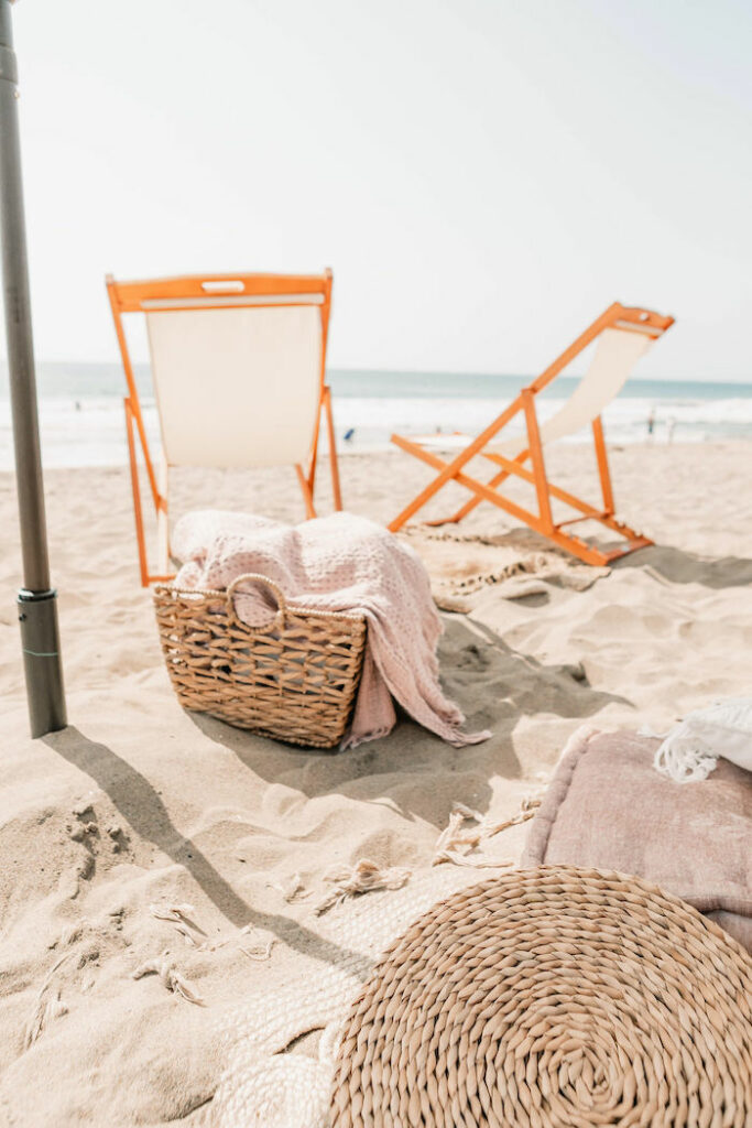 """Seaside Blanket Basket from a """"Thanks for the Awesome Genes"""" Seaside Mother's Day Picnic on Kara's Party Ideas 
