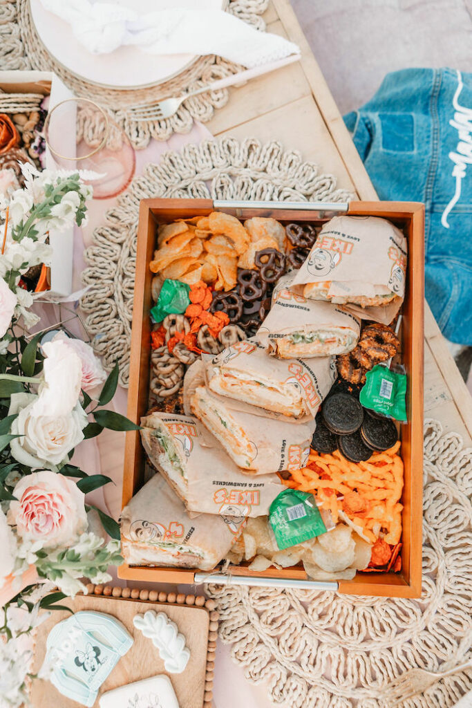 """Charcuterie Snack Box from a """"Thanks for the Awesome Genes"""" Seaside Mother's Day Picnic on Kara's Party Ideas 