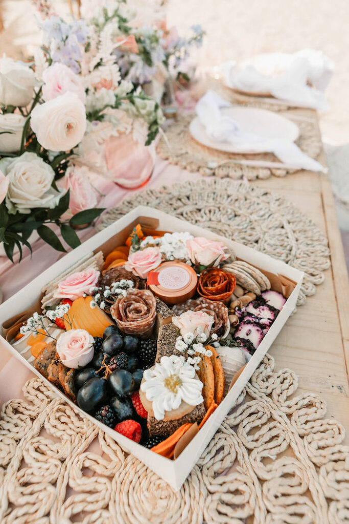 """Charcuterie Box + Guest from a """"Thanks for the Awesome Genes"""" Seaside Mother's Day Picnic on Kara's Party Ideas 