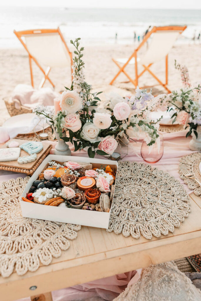 """Charcuterie Box from a """"Thanks for the Awesome Genes"""" Seaside Mother's Day Picnic on Kara's Party Ideas 