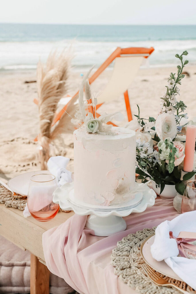"""Boho Cake from a """"Thanks for the Awesome Genes"""" Seaside Mother's Day Picnic on Kara's Party Ideas 