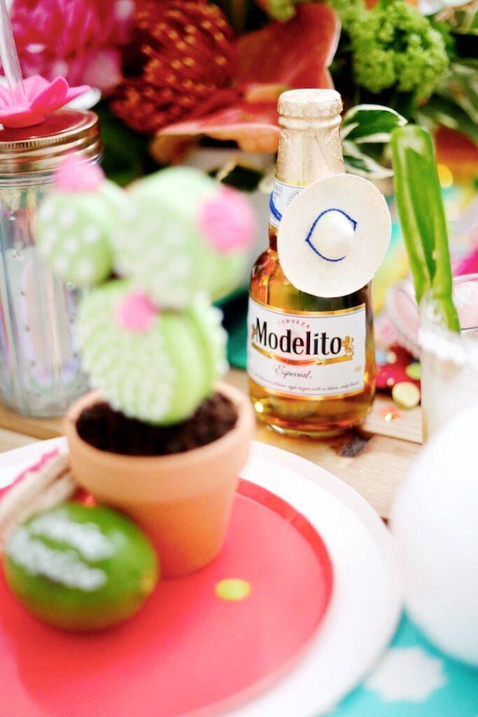 Sombrero-adorned Beverage Bottle from a Colorful Cinco de Mayo Fiesta on Kara's Party Ideas   KarasPartyIdeas.com