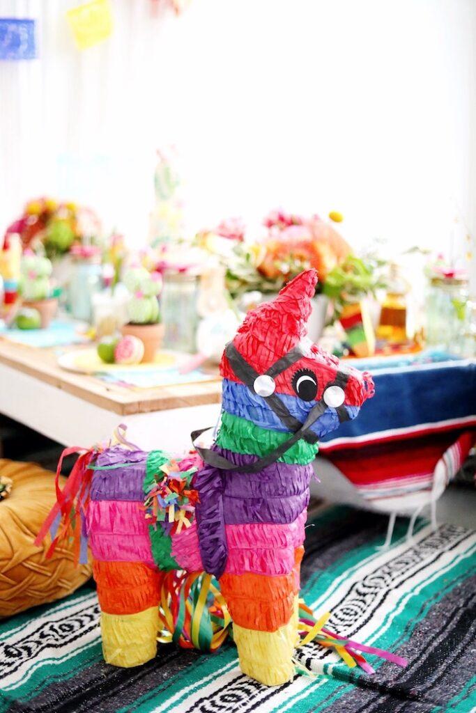 Traditional Fiesta Pinata from a Colorful Cinco de Mayo Fiesta on Kara's Party Ideas   KarasPartyIdeas.com