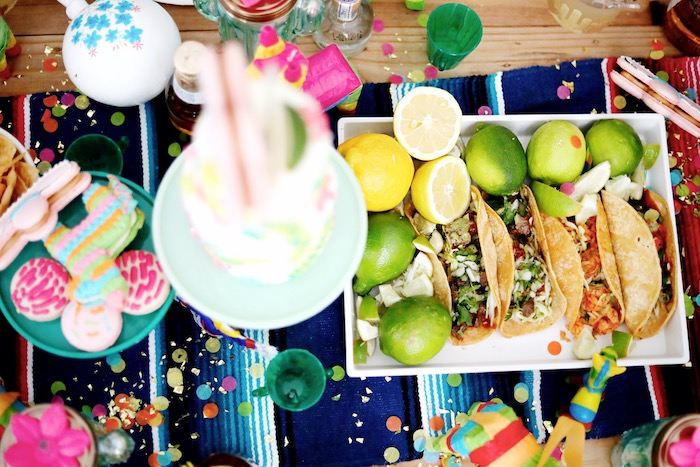 Tacos and Limes from a Colorful Cinco de Mayo Fiesta on Kara's Party Ideas   KarasPartyIdeas.com