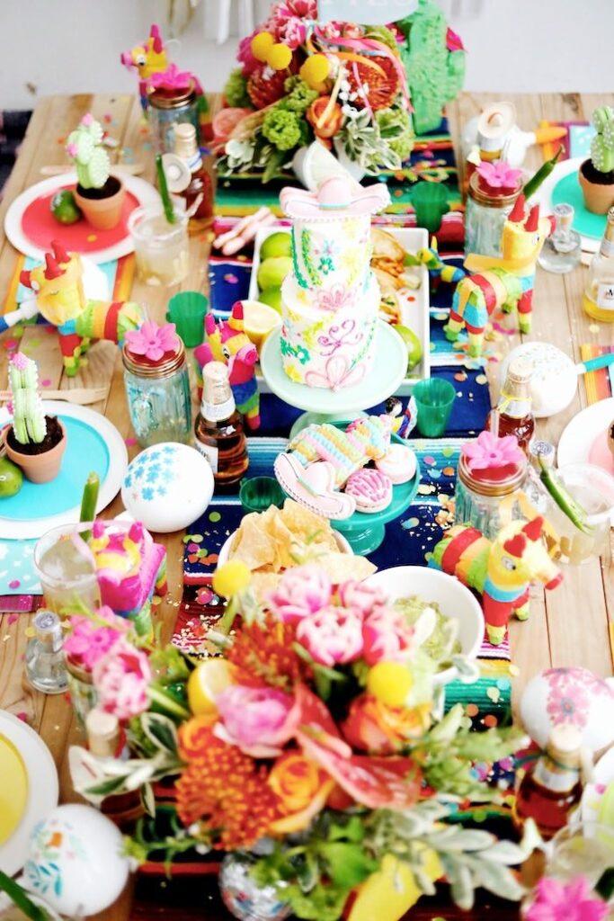Fiesta Guest Table from a Colorful Cinco de Mayo Fiesta on Kara's Party Ideas   KarasPartyIdeas.com
