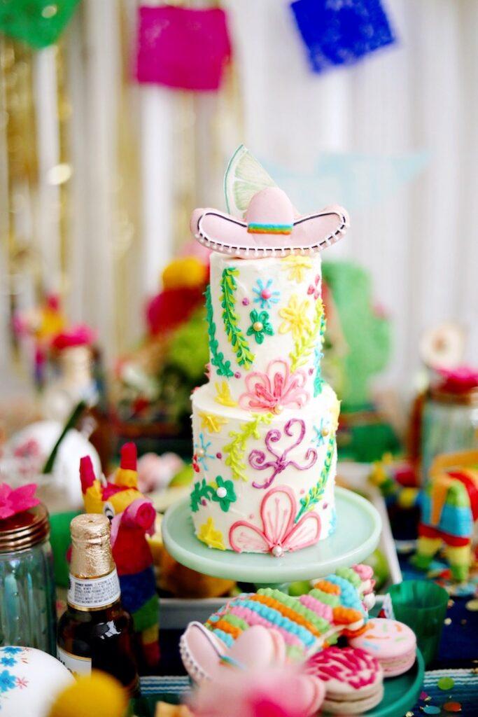 Fiesta Cake from a Colorful Cinco de Mayo Fiesta on Kara's Party Ideas   KarasPartyIdeas.com