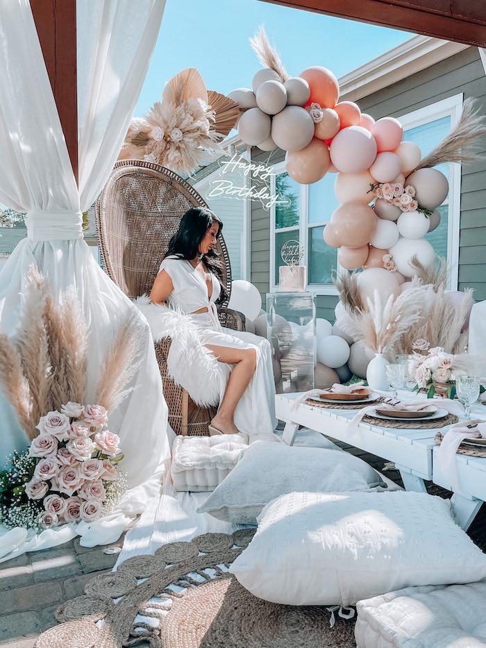 Elegant Bohemian Birthday Party on Kara's Party Ideas   KarasPartyIdeas.com