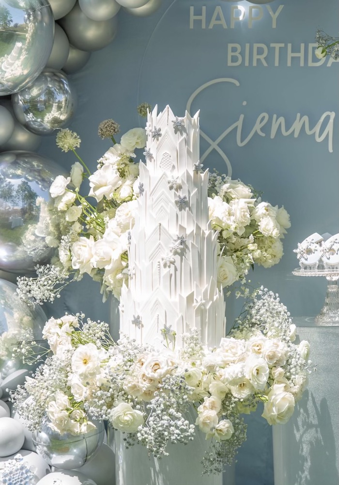 Ice Castle Cake from a Frozen Arendelle Inspired Birthday Party via Kara's Party Ideas | KarasPartyIdeas.com