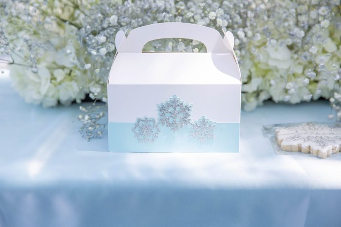 Snowflake-adorned Gable Box from a