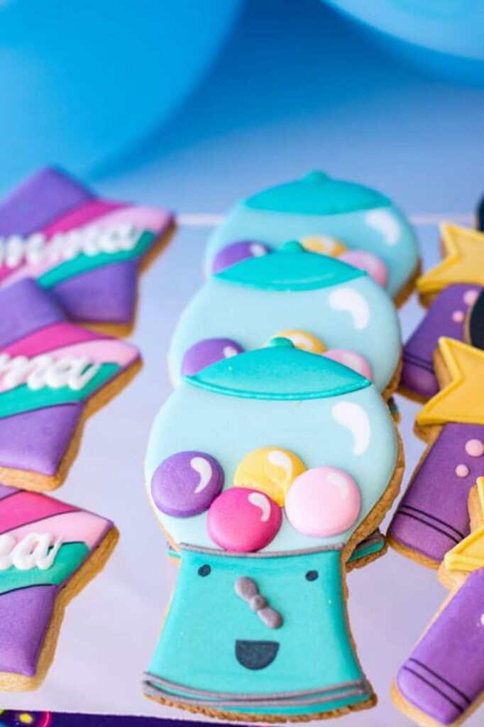 Gumball Machine Cookies from a Groovy Disco Birthday Party on Kara's Party Ideas | KarasPartyIdeas.com