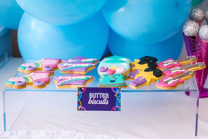 Groovy Butter Biscuits from a Groovy Disco Birthday Party on Kara's Party Ideas | KarasPartyIdeas.com