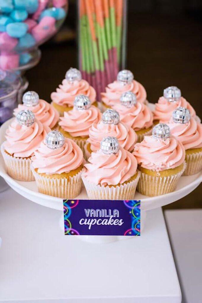 Disco Ball Cupcakes from a Groovy Disco Birthday Party on Kara's Party Ideas | KarasPartyIdeas.com