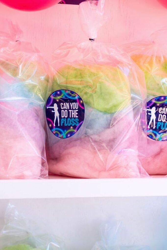 Rainbow Cotton Candy from a Groovy Disco Birthday Party on Kara's Party Ideas | KarasPartyIdeas.com
