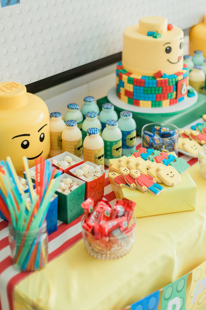 Lego Party Table from a Lego Birthday Party on Kara's Party Ideas   KarasPartyIdeas.com