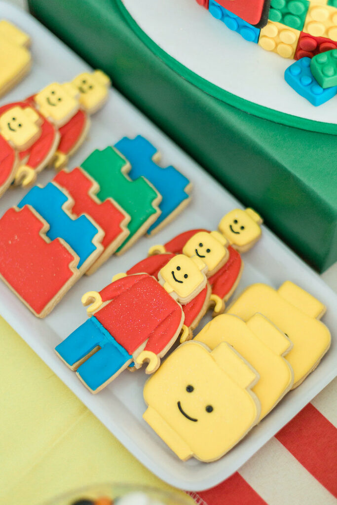 Lego Cookies from a Lego Birthday Party on Kara's Party Ideas   KarasPartyIdeas.com
