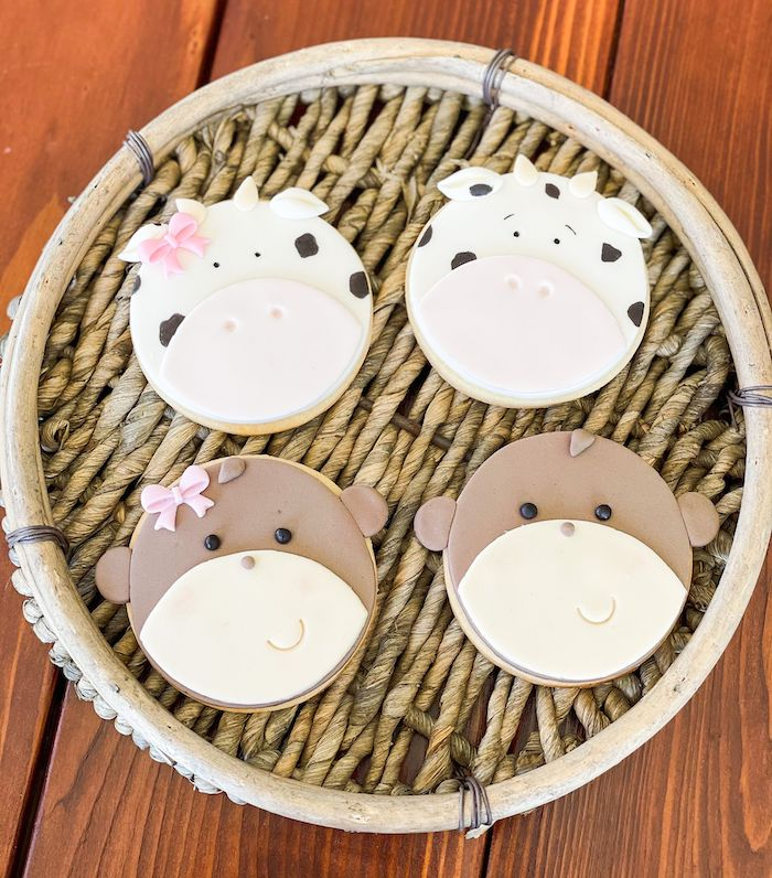 Animal Cookies from a Adoption Favors from a Muted Boho Noah's Ark Party via Kara's Party Ideas | KarasPartyIdeas.com