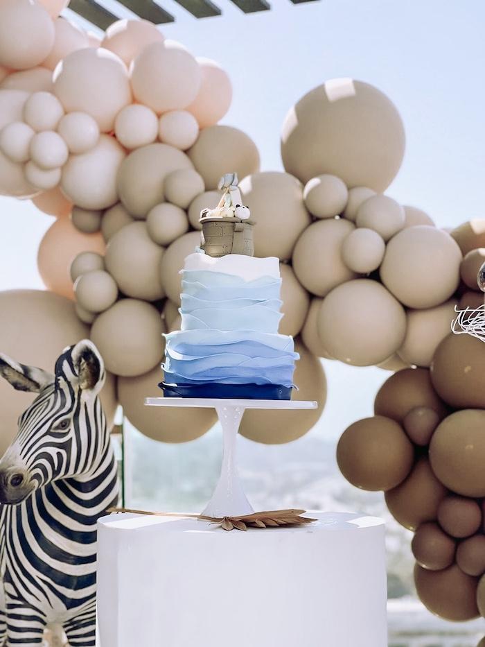 Noah's Ark-inspired Birthday Cake from a Adoption Favors from a Muted Boho Noah's Ark Party via Kara's Party Ideas | KarasPartyIdeas.com