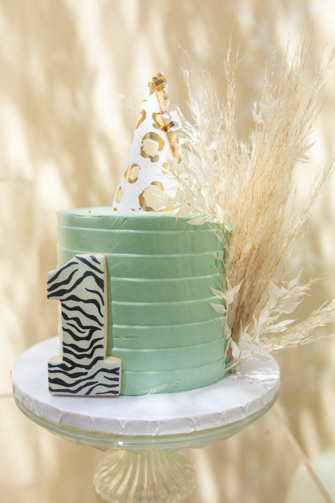 Wild One Smash Cake from a Muted Boho Wild ONE Birthday Party on Kara's Party Ideas | KarasPartyIdeas.com