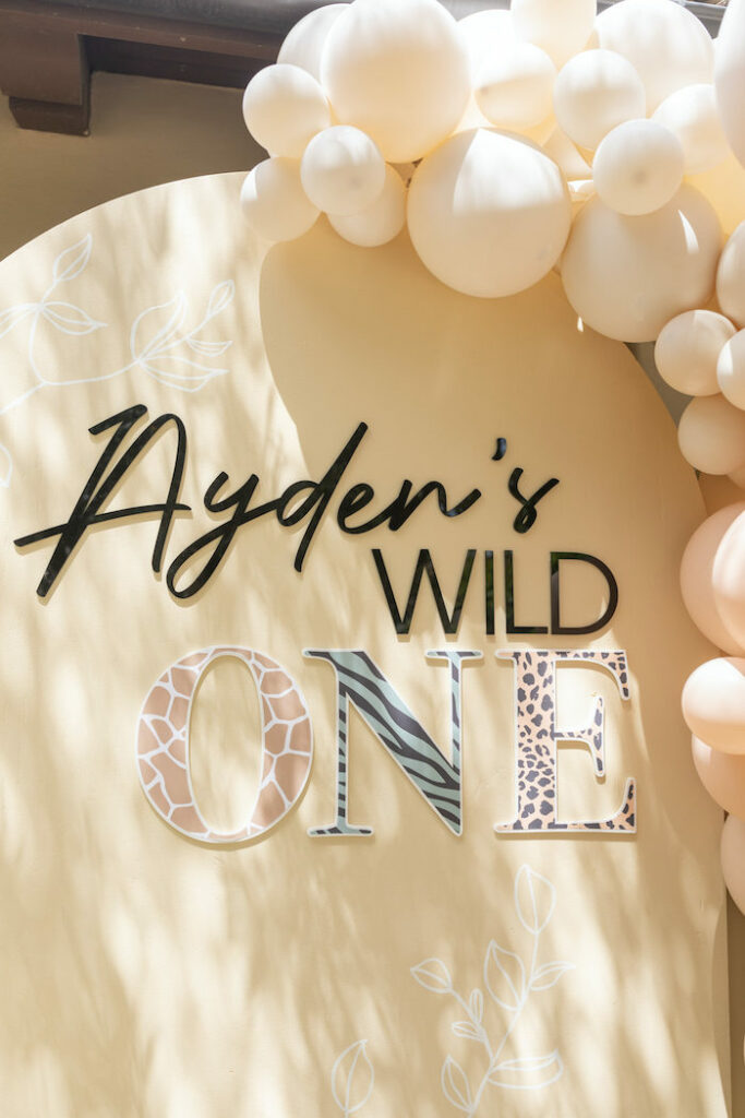 Modern Wild One Backdrop from a Muted Boho Wild ONE Birthday Party on Kara's Party Ideas | KarasPartyIdeas.com