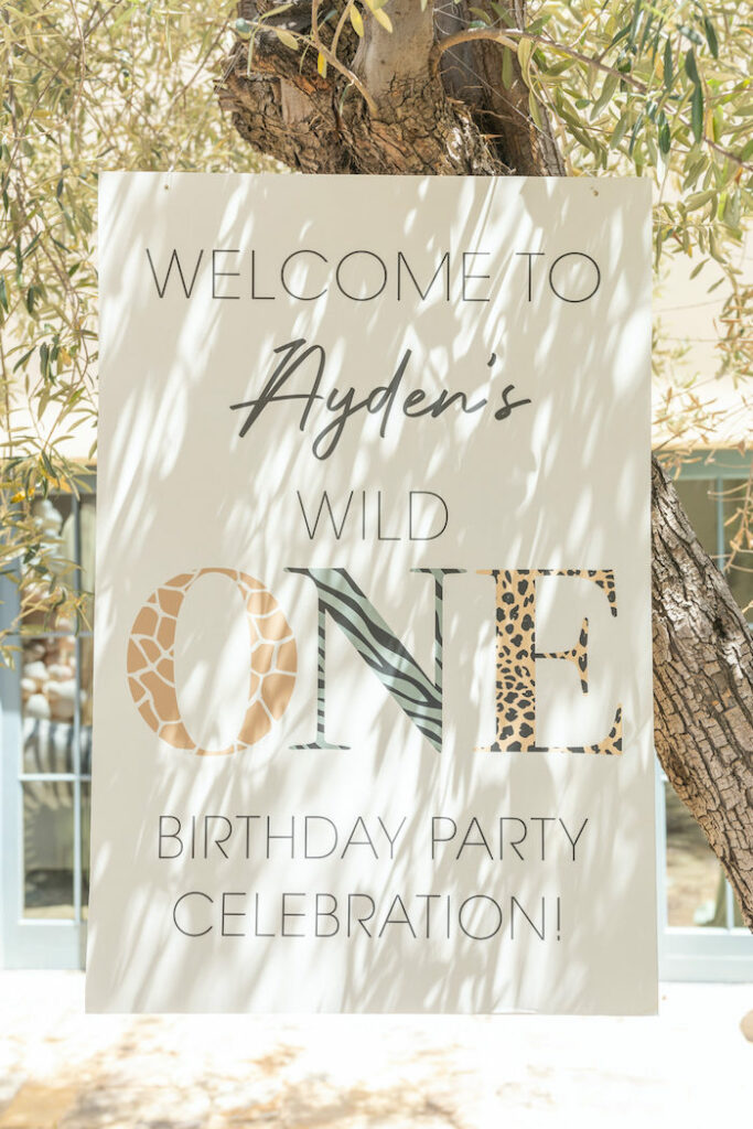 Wild One Welcome Sign from a Muted Boho Wild ONE Birthday Party on Kara's Party Ideas | KarasPartyIdeas.com