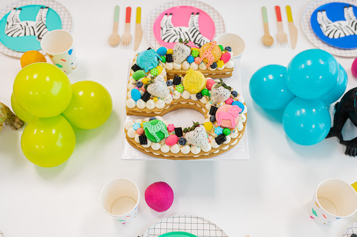 5 Pastry Cake from a Party Like an Animal Birthday Party on Kara's Party Ideas | KarasPartyIdeas.com
