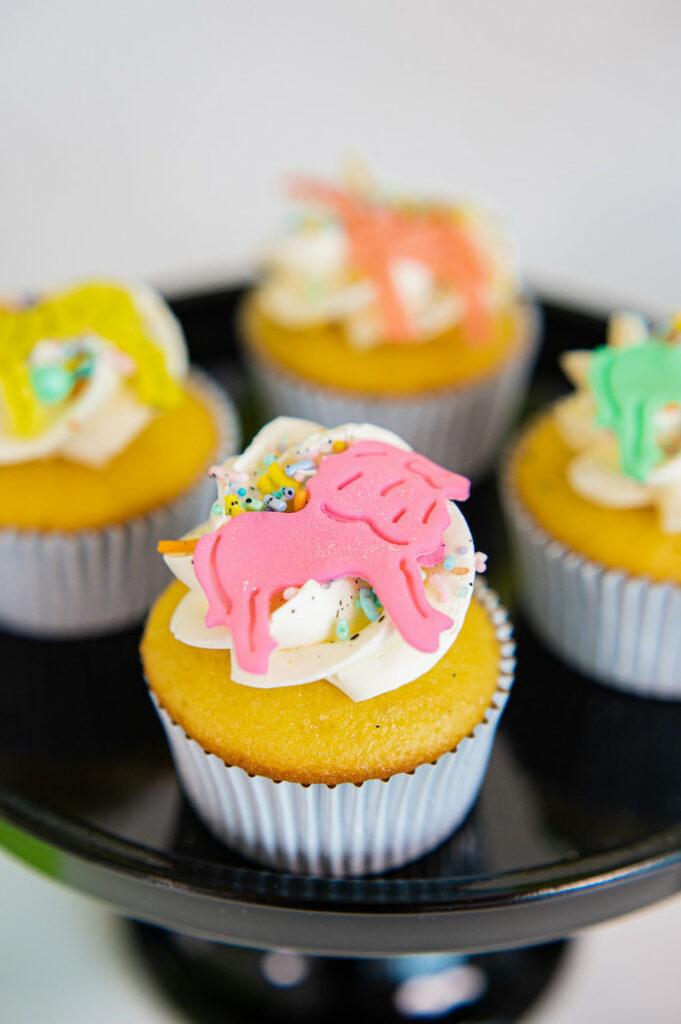 Safari Animal Cupcakes from a Party Like an Animal Birthday Party on Kara's Party Ideas | KarasPartyIdeas.com