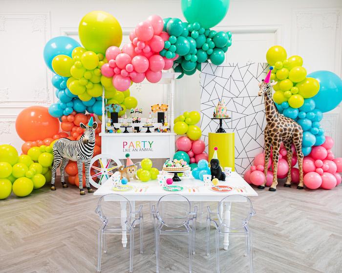 Party Like an Animal Birthday Party on Kara's Party Ideas | KarasPartyIdeas.com