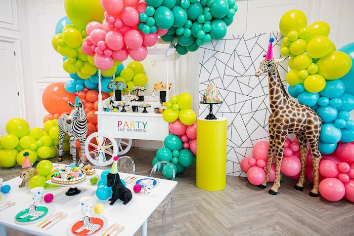 Party Like an Animal Birthday Party via Kara's Party Ideas | KarasPartyIdeas.com