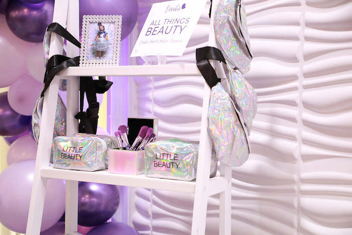 Purple + White Favor Shelves from a Pretty in Purple Dance Party on Kara's Party Ideas   KarasPartyIdeas.com (27)