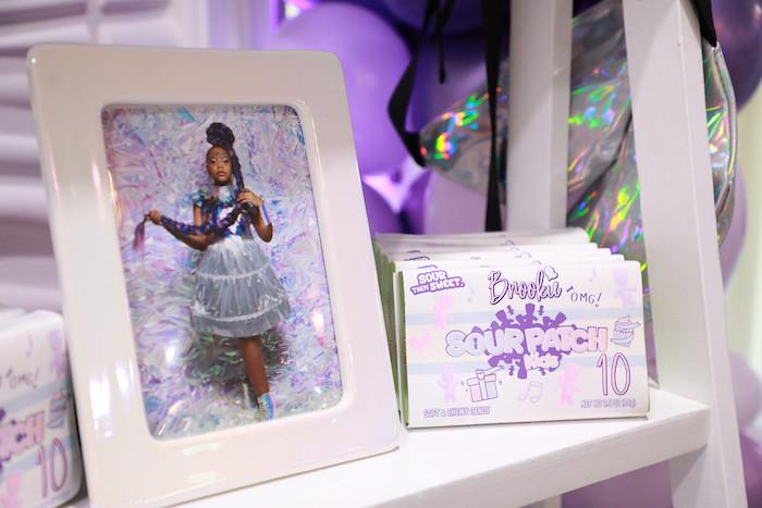 Favor Shelf Details from a Pretty in Purple Dance Party on Kara's Party Ideas   KarasPartyIdeas.com (25)