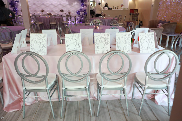 Art Table from a Pretty in Purple Dance Party on Kara's Party Ideas   KarasPartyIdeas.com (24)