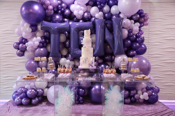 Pretty in Purple. Dessert Table from a Pretty in Purple Dance Party on Kara's Party Ideas   KarasPartyIdeas.com (22)
