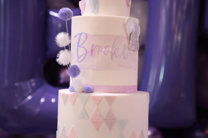Birthday Cake from a Pretty in Purple Dance Party on Kara's Party Ideas   KarasPartyIdeas.com (21)