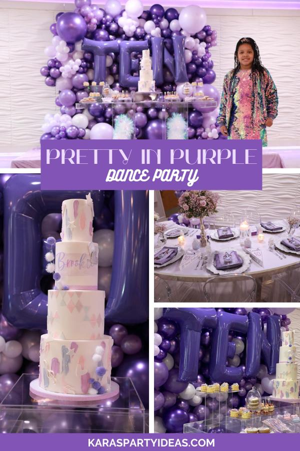 Pretty in Purple Dance Party via Kara's Party Ideas - KarasPartyIdeas.com