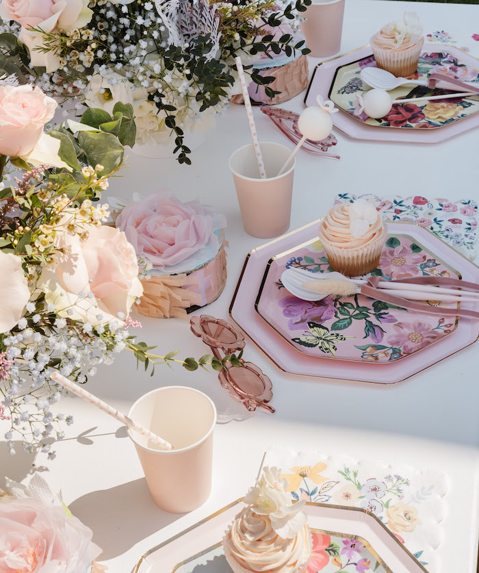 Spring Guest Tablescape from a Spring Fling Party on Kara's Party Ideas | KarasPartyIdeas.com (23)