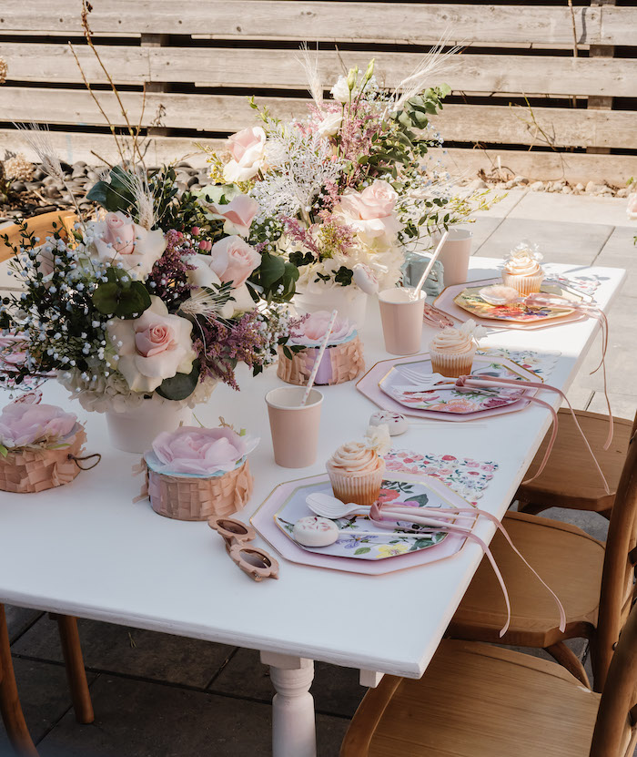 Spring Guest Table from a Spring Fling Party on Kara's Party Ideas | KarasPartyIdeas.com (22)