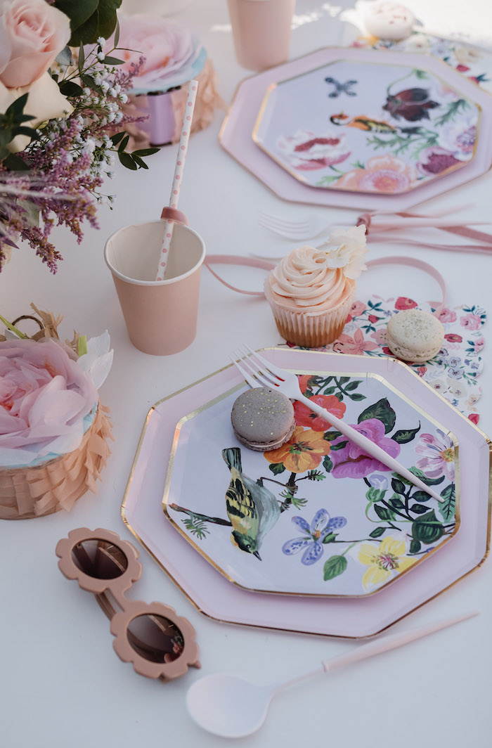 Spring Table Setting from a Spring Fling Party on Kara's Party Ideas | KarasPartyIdeas.com (20)