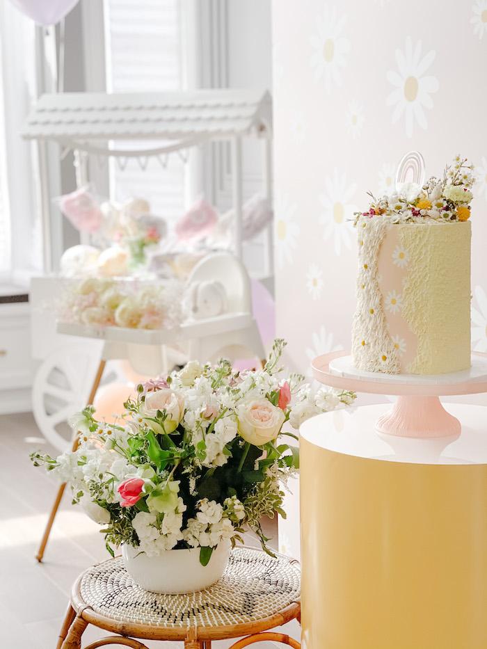 Cake Pedestal from a Teddy Bear Picnic Party on Kara's Party Ideas | KarasPartyIdeas.com