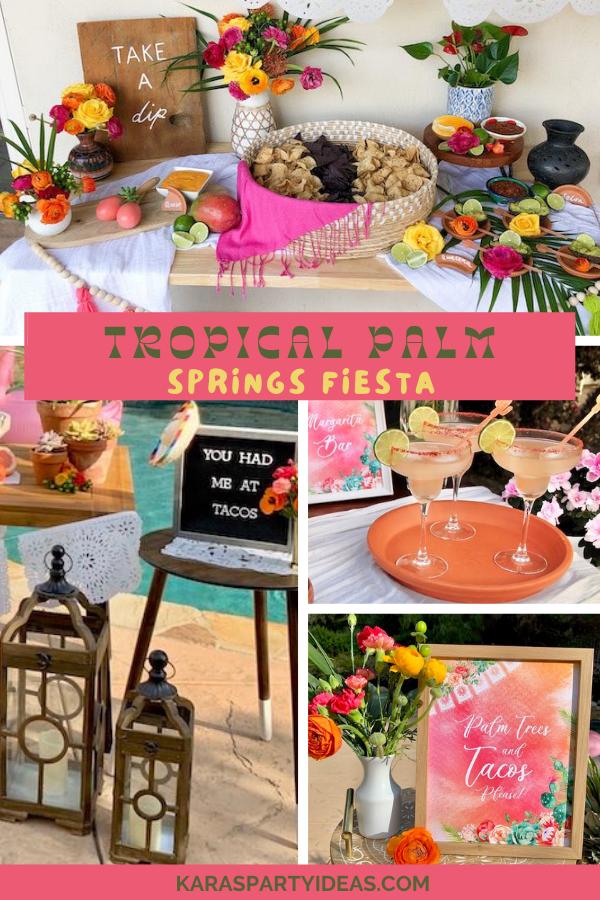 Tropical Palm Springs Fiesta via Kara's Party Ideas - KarasPartyIdeas.com