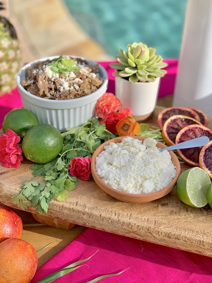 Carnitas from a Tropical Palm Springs Fiesta on Kara's Party Ideas | KarasPartyIdeas.com