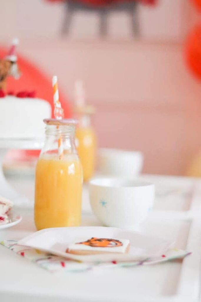 """Table Setting from a """"When A Tiger Came to Tea"""" Birthday Party on Kara's Party Ideas 