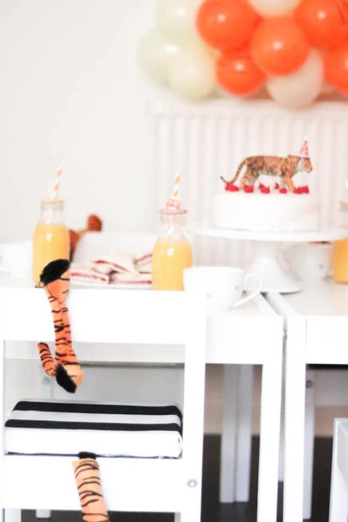 """When A Tiger Came to Tea"" Party Table from a ""When A Tiger Came to Tea"" Birthday Party on Kara's Party Ideas | KarasPartyIdeas.com"